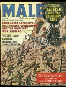 MALE MARCH 1963-WW2 COMBAT CVR-AMUSEMENT GIRLS-HITLER FN