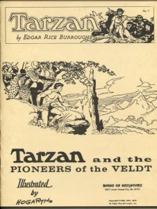 Tarzan and The Pioneers of The Veldt #7 1974-House Of Greystone-Burne Hogarth-VF