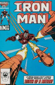 Iron Man (1st Series) #208 VF; Marvel | save on shipping - details inside