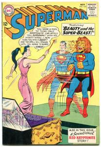 SUPERMAN #165 comic book 1963-DC-Red Kryptonite story-Silver-Age VG-