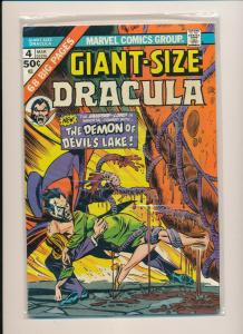 Marvel GIANT-SIZE DRACULA #4 The Demon of Devil's Lake VG/F (PF780)