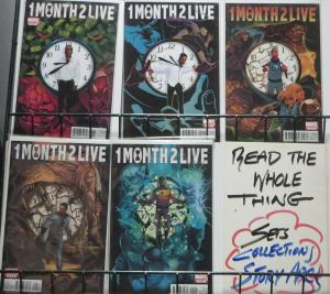 1 MONTH 2 LIVE (Marvel, 2010) #1-5 COMPLETE! Rick Remender, Andrea Mutti, VF-NM