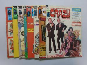 Crazy Magazine Set:#2-9, Average 4.0/VG (1974)