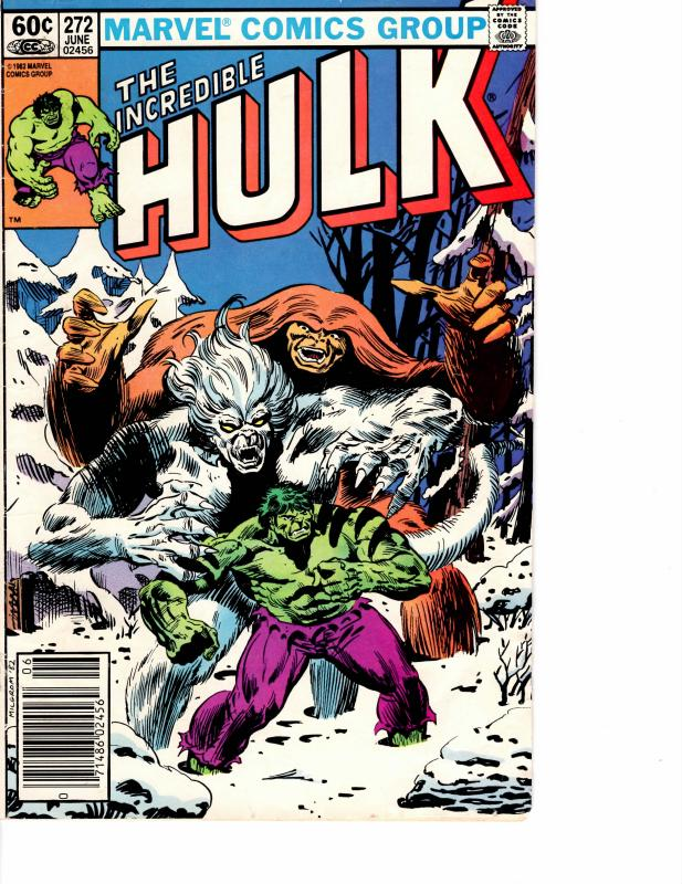 Incredible Hulk ( 1968 ) 272 Fine- 5.5