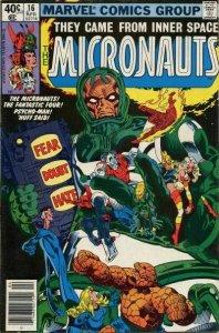 Micronauts (Vol. 1) #16 (Newsstand) VG; Marvel   low grade comic - save on shipp