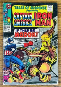 TALES OF SUSPENSE #94 FIRST APPEARANCE MODOK 1967 Marvel Comic Book NEEDS REPAIR