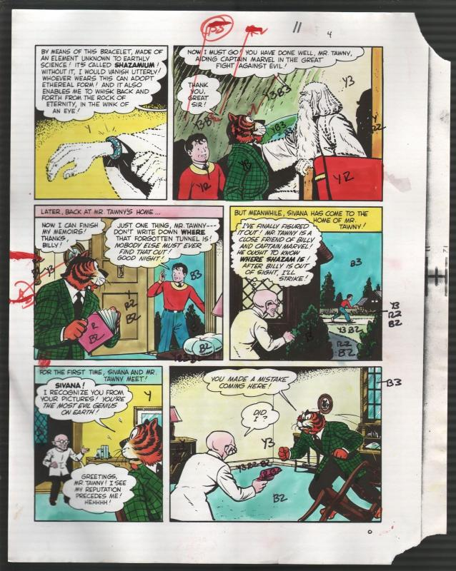 Hand Painted Color Guide-Capt Marvel-Shazam-C35-1975-DC-page 11-Batson-Tawney-G
