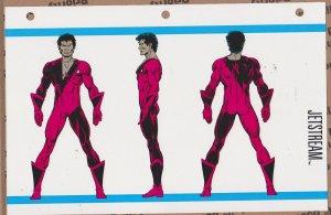 Official Handbook of the Marvel Universe Sheet - Jetstream