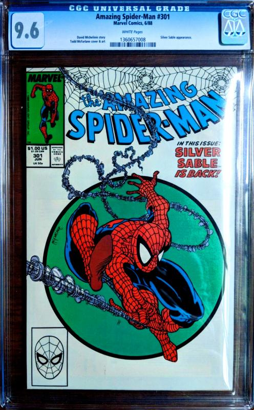 Amazing Spider-Man #301 CGC 9.6 NM+ White Pages Todd McFarlane