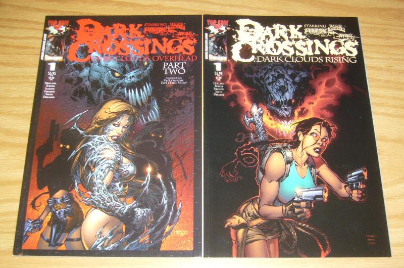 Dark Crossings #1-2 VF/NM complete series - witchblade - tomb raider - darkness