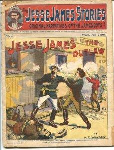 Jesse James Stories #1 12/1938-reprints 1901-W.B. Lawson-1st issue-FR