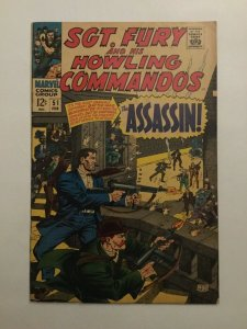 Sgt Fury And His Howling Commandos 51 Vg/fn Very Good/fine 5.0 Marvel