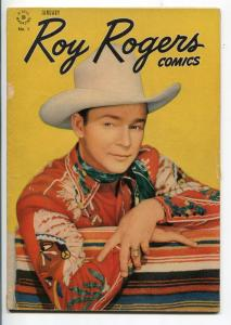ROY ROGERS #1-1948-DELL-MOVIE PHOTO COVER-1ST ISSUE-vg