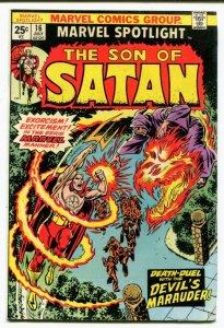 Marvel Spotlight #16 (7.5) 1974 DEATH DUEL WITH THE DEVIL'S MARAUDER! ID12G