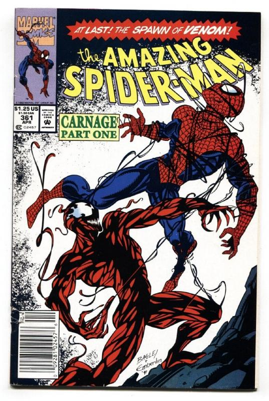 Amazing Spider-Man #361 comic book Marvel 1992- 1st appearance of Carnage