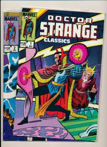 Marvel Comics DR. STRANGE CLASSICS #1,2 1983 ~ VF/NM or better (PF579)