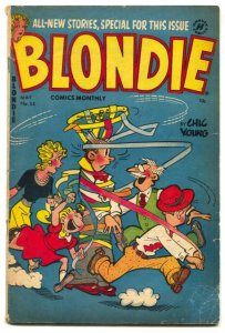 Blondie Comics #54 1953- Harvey Golden Age VG