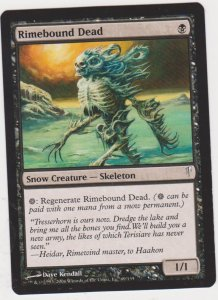 Magic the Gathering: Coldsnap - Rimebound Dead