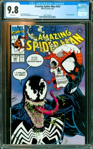 Amazing Spider-Man #347 CGC Graded 9.8 Venom appearance.