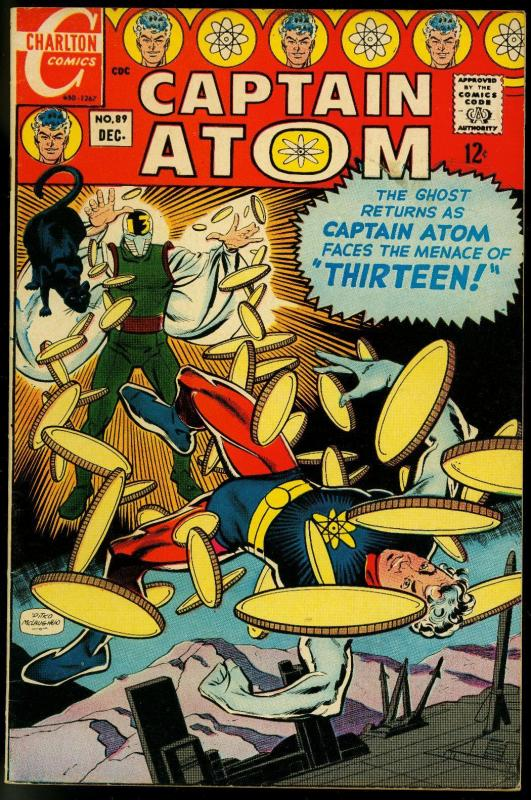 CAPTAIN ATOM V.2 #89-GREAT CHARLTON SILVER AGE-fine/very fine FN/VF