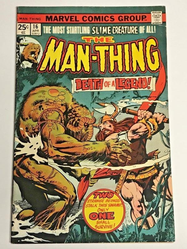 MAN-THING#16 VG/FN 1975 MARVEL BRONZE AGE COMICS