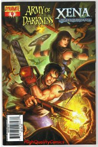 ARMY of DARKNESS / XENA #4,  VF+, Warrior Princess, 2008, more in store