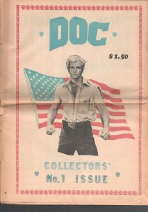 Doc #1 Fall 1975-1st issue-Ron Ely cover-Making of the movie-24 pages-tabloid...