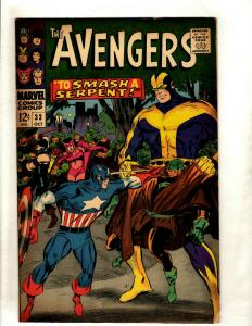 Avengers # 33 VG/FN Marvel Comic Book Hulk Thor Iron Man Captain America NE1
