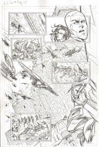 G.I. Joe #9 pg 17 COBRA ACTION PAGE Pencil Art PAGE Steve Kurth IDW