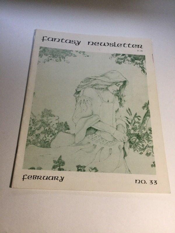 Fantasy Newsletter 33 Fn Fine 6.0 Magazine