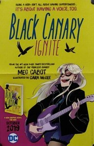 Black Canary Ignite Folded Promo Poster (17x11) New! [FP45]
