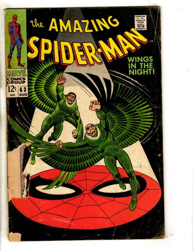 Amazing Spider-Man # 63 GD Marvel Comic Book Goblin Silver Age Stan Lee JG9