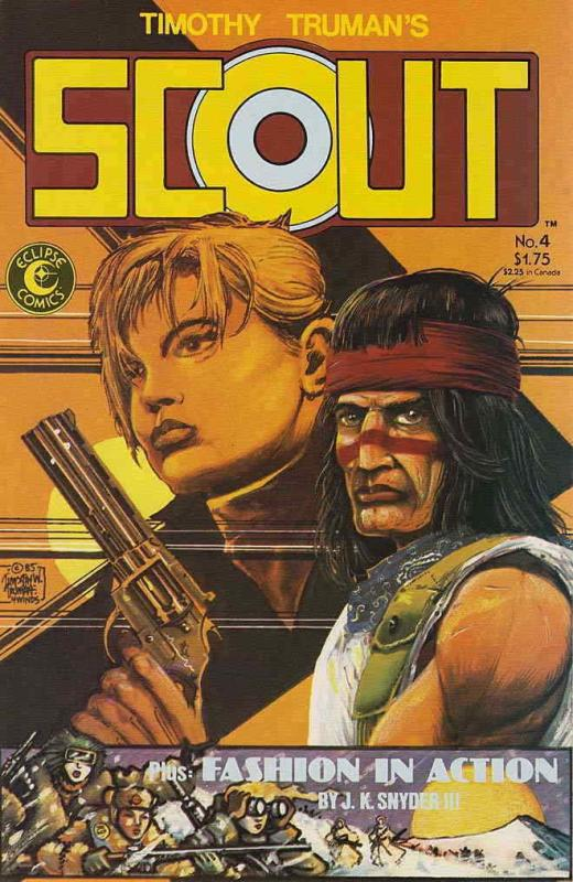 Scout #4 VF/NM; Eclipse | save on shipping - details inside