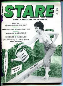Stare 2/1961-Humorama-Timely-cheesecake-Barbara Nichols-Jennie Lee-VG-