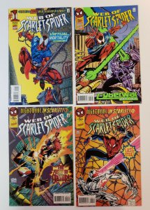Web Of Scarlet Spider #1-4 Complete Set Marvel Comics 1995 VF/NM issue 4 FN/VF