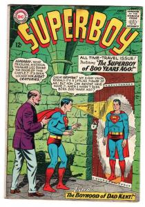 SUPERBOY #113 1964-dc SILVER AGE COMIC-time travel issue fn-