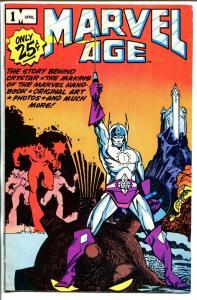 Marvel Age #1 1983-Marvel-Crystar-Walt Simmons-FN