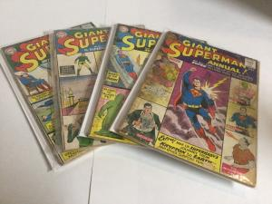 Superman Annual 2 4 5 8 Lot Gd Good 2.0 DC Comics Silver Age