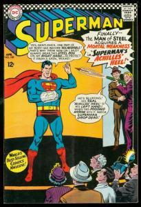 SUPERMAN #185 1966-DC COMICS-POISON DART GUN!!! DC VG