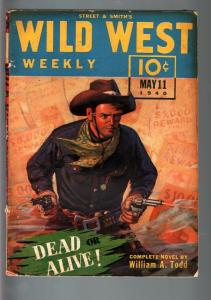 WILD WEST WEEKLY 5/11/1940-WESTERN PULP-WHISTLIN' KID FN