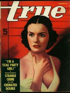 True Magazine January 1938- Stag Party Girl- War Birds G