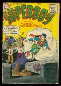SUPERBOY #46 1956-DC COMICS-SMALLVILLE-EARLY SILVER AGE G/VG
