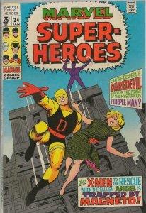 Marvel Super Heroes #24 ORIGINAL Vintage 1970 Daredevil X Men