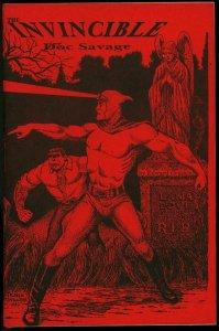 Invincible Doc Savage Fanzine 1983- Radio script Rare pulp item VF