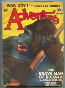 Adventure Pulp September 1940- Brave Man of Kigoma