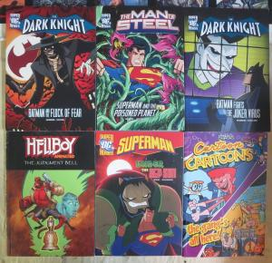 DC Heroes 4Diff Novels feat. Dark Knight Superman & Hellboy & Cartoon Cartoons