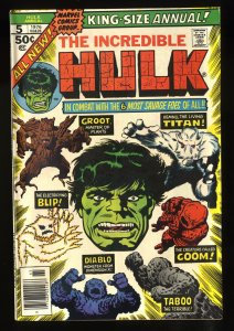 Incredible Hulk Annual #5 VF 8.0 Groot!
