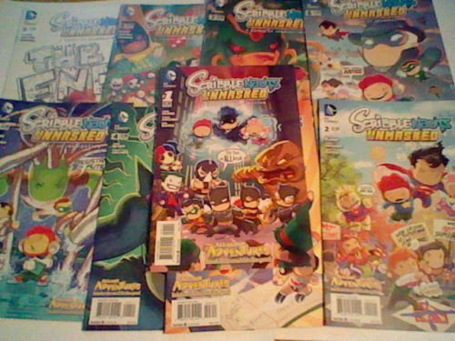SCRIBBLENAUTS UNMASKED Full Run 1 - 9 complete DC comic set, based on game!