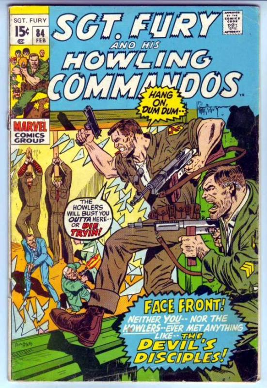 Sgt. Fury and His Howling Commandos #84 (Feb-71) FN- Mid-Grade Sgt. Fury, How...