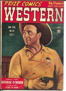 Prize Comics western  #79 1949-George O'Brien-John Severin-Will Elder-VG